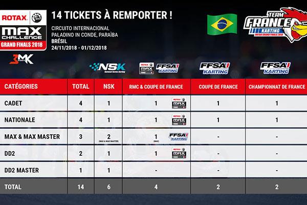 14 Tickets pour participer à la finale Mondiale 20