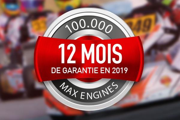 Garantie de 12 mois - ROTAX Max evo et DD2 evo
